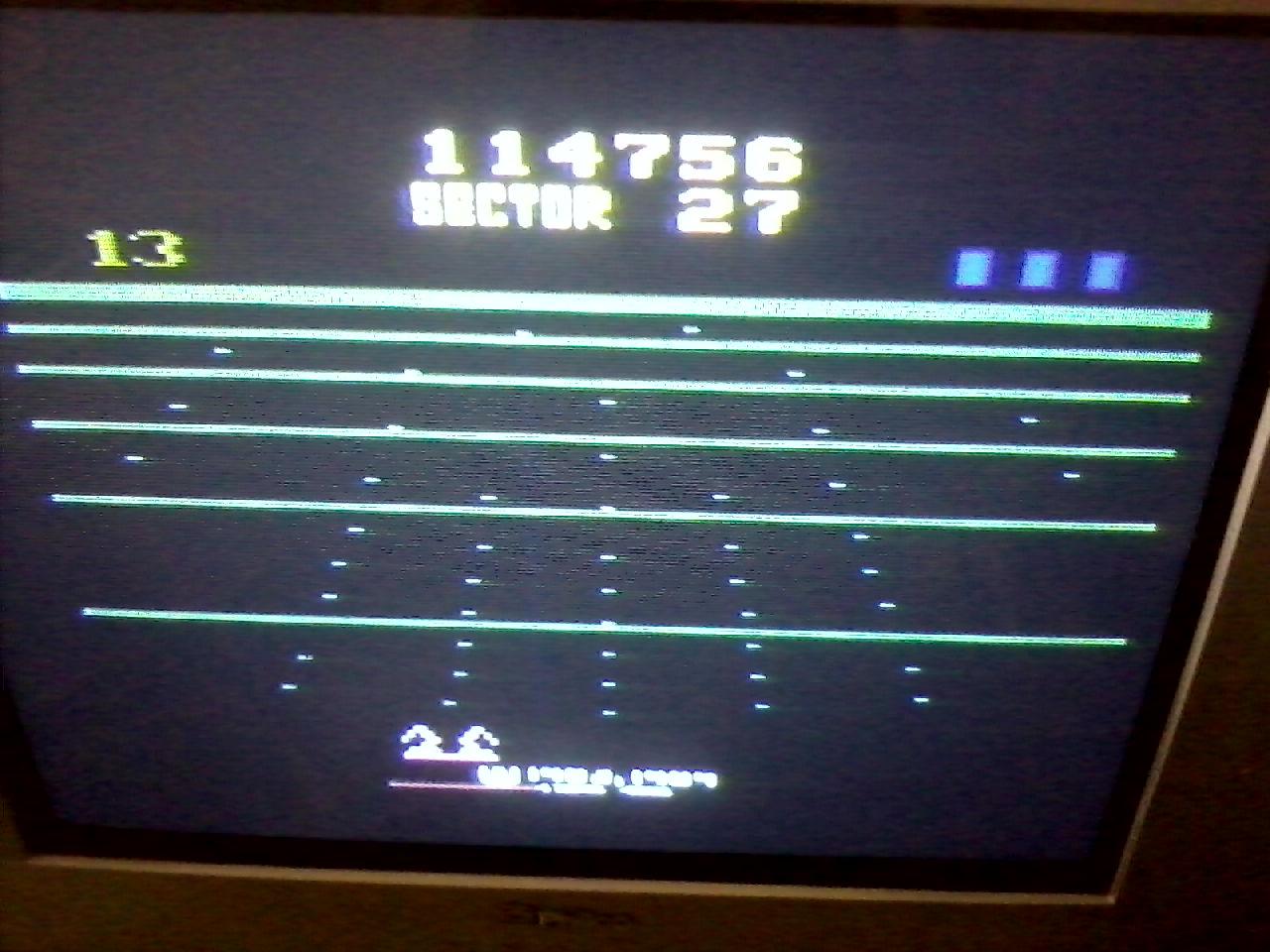 Liduario: Beamrider (Atari 2600 Novice/B) 114,756 points on 2014-03-17 08:23:19