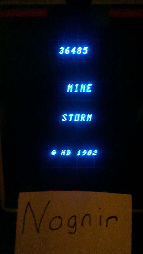 Mine Storm: European version 36,485 points