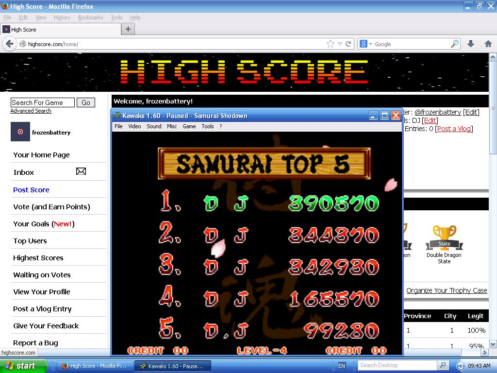 Samurai Shodown 390,570 points