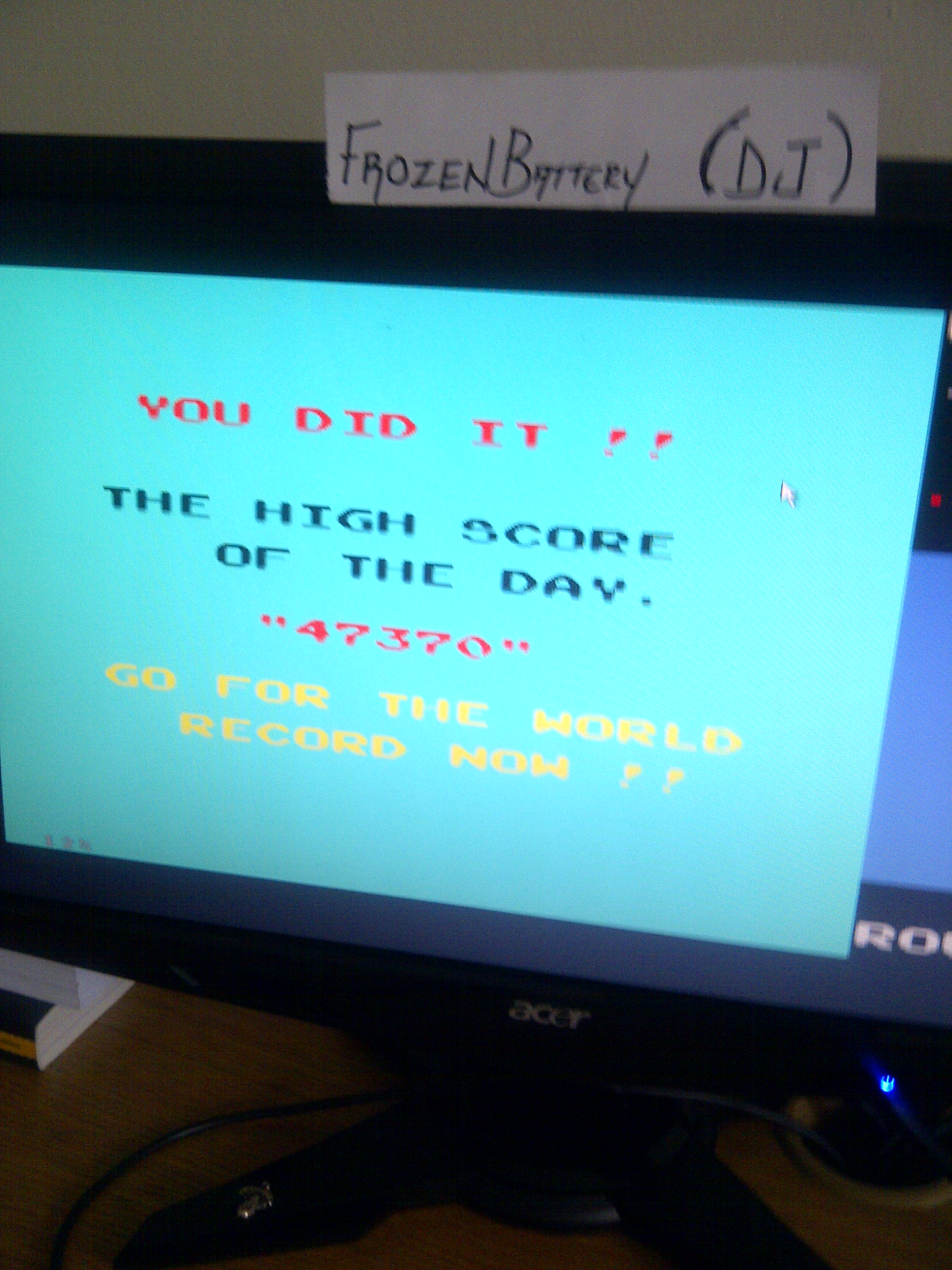 Namco Museum 50th Anniversary: Rally-X 47,370 points