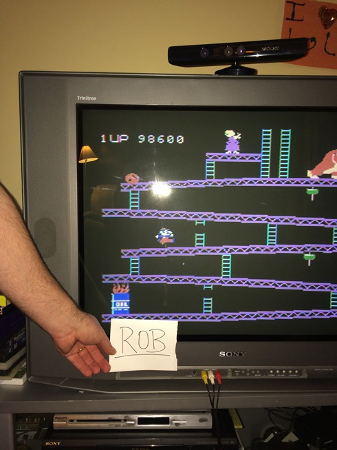 Donkey Kong 98,600 points