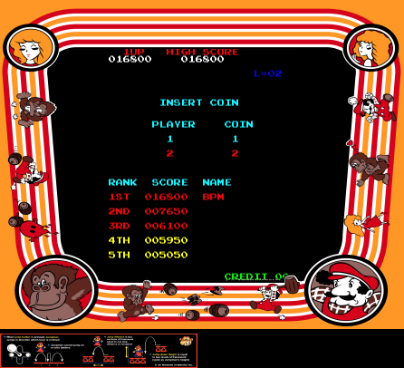 arenafoot: Donkey Kong (Arcade Emulated / M.A.M.E.) 16,800 points on 2014-03-19 13:07:02