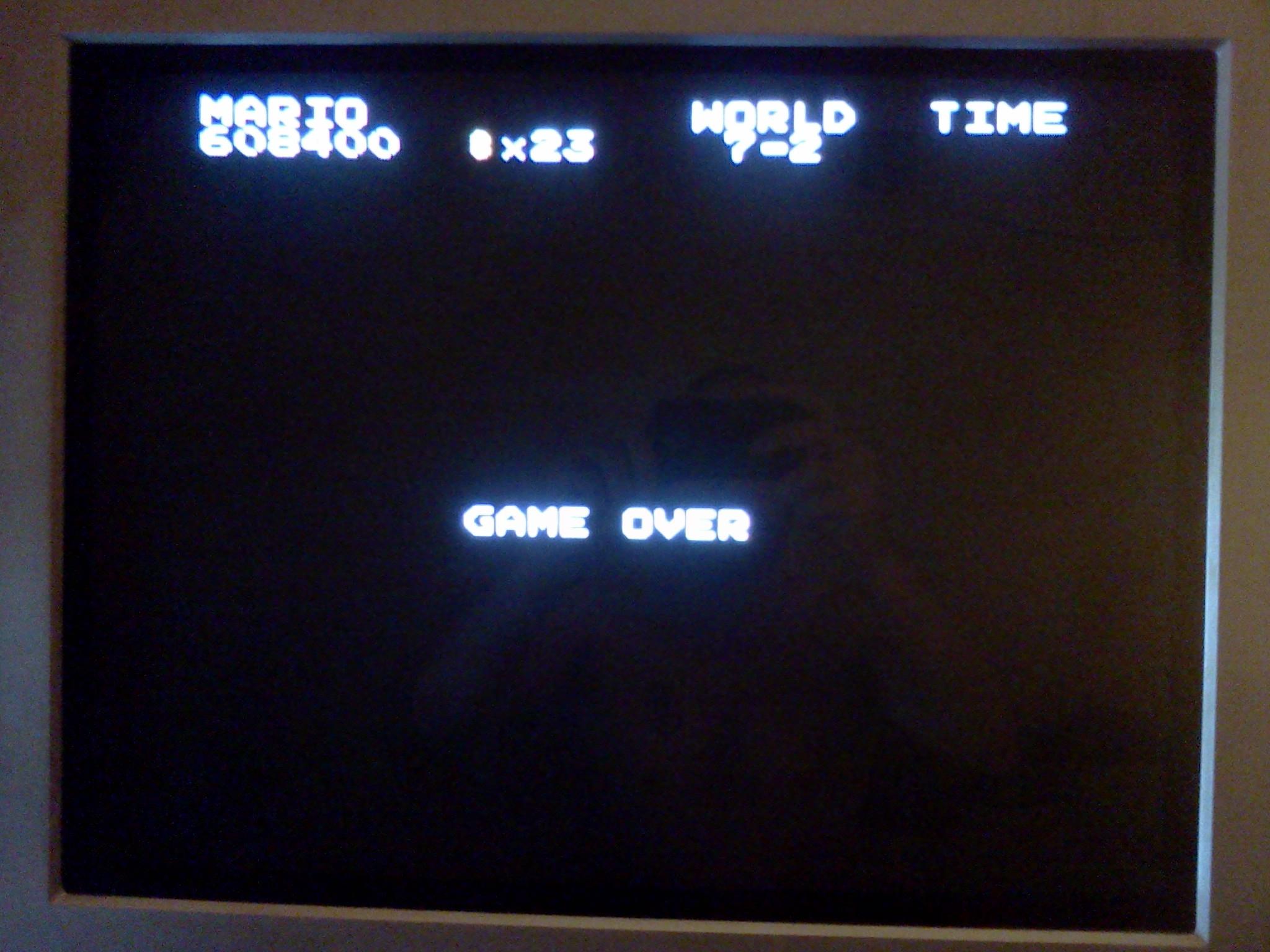 Super Mario Bros. 608,400 points