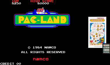 arenafoot: Pac-Land (Arcade Emulated / M.A.M.E.) 8,250 points on 2014-03-20 20:37:54
