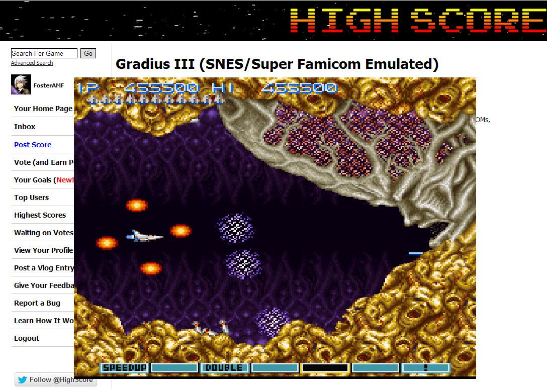 Gradius III 455,500 points