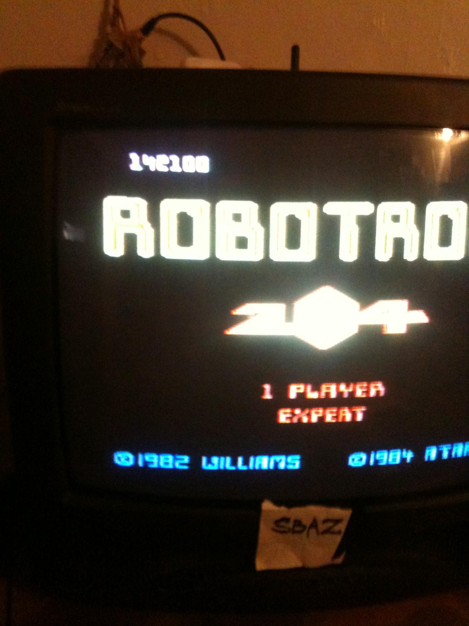 Robotron 2084: Expert 142,100 points