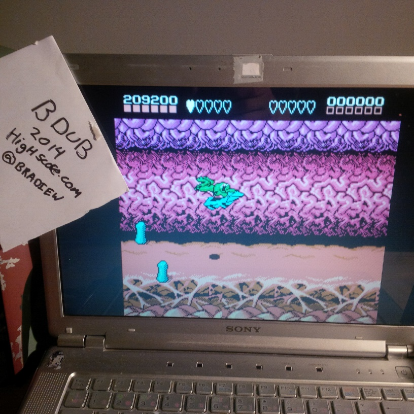 Bdub: Battletoads (NES/Famicom Emulated) 209,200 points on 2014-03-21 22:58:22
