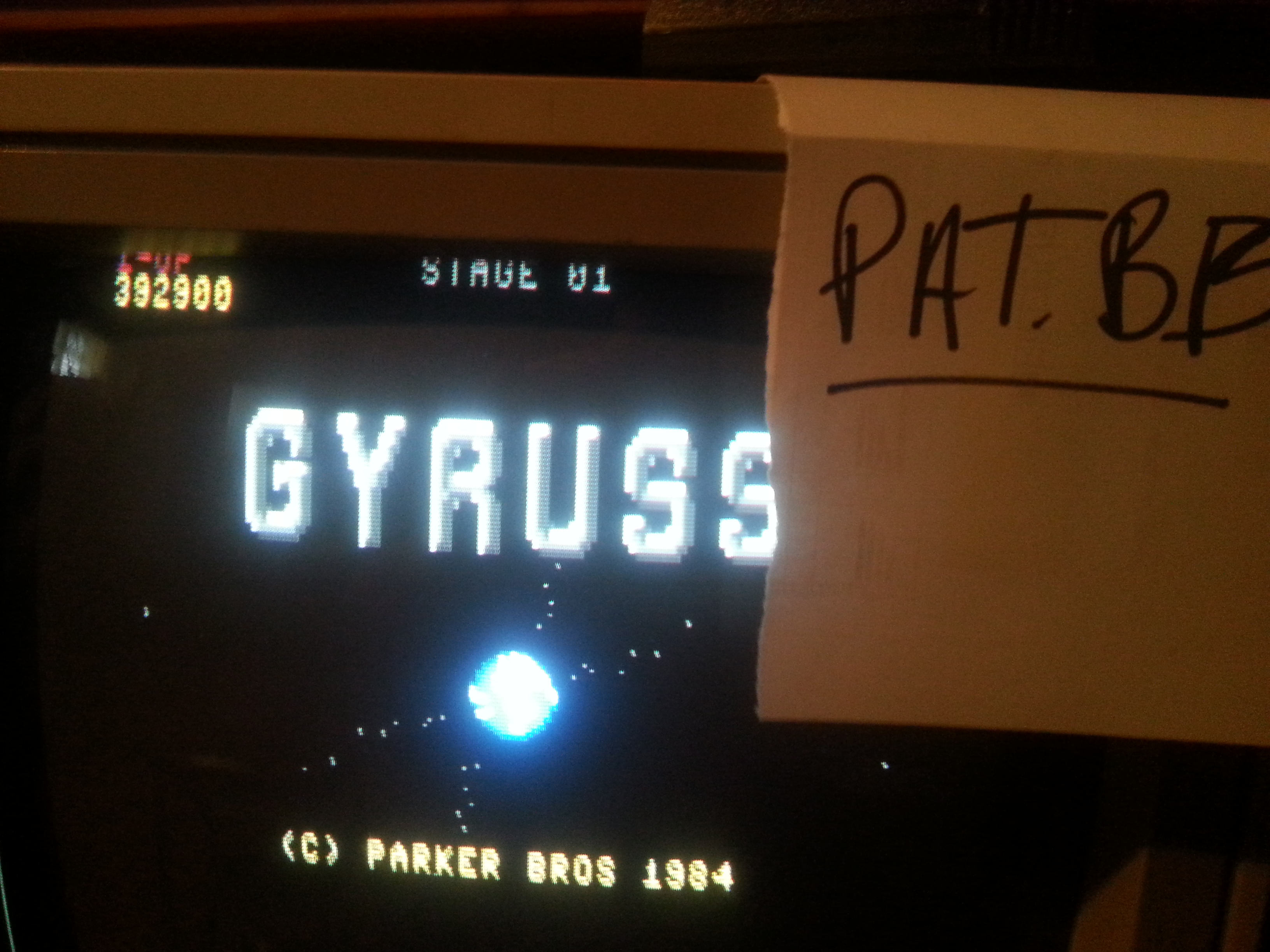 Gyruss 392,900 points