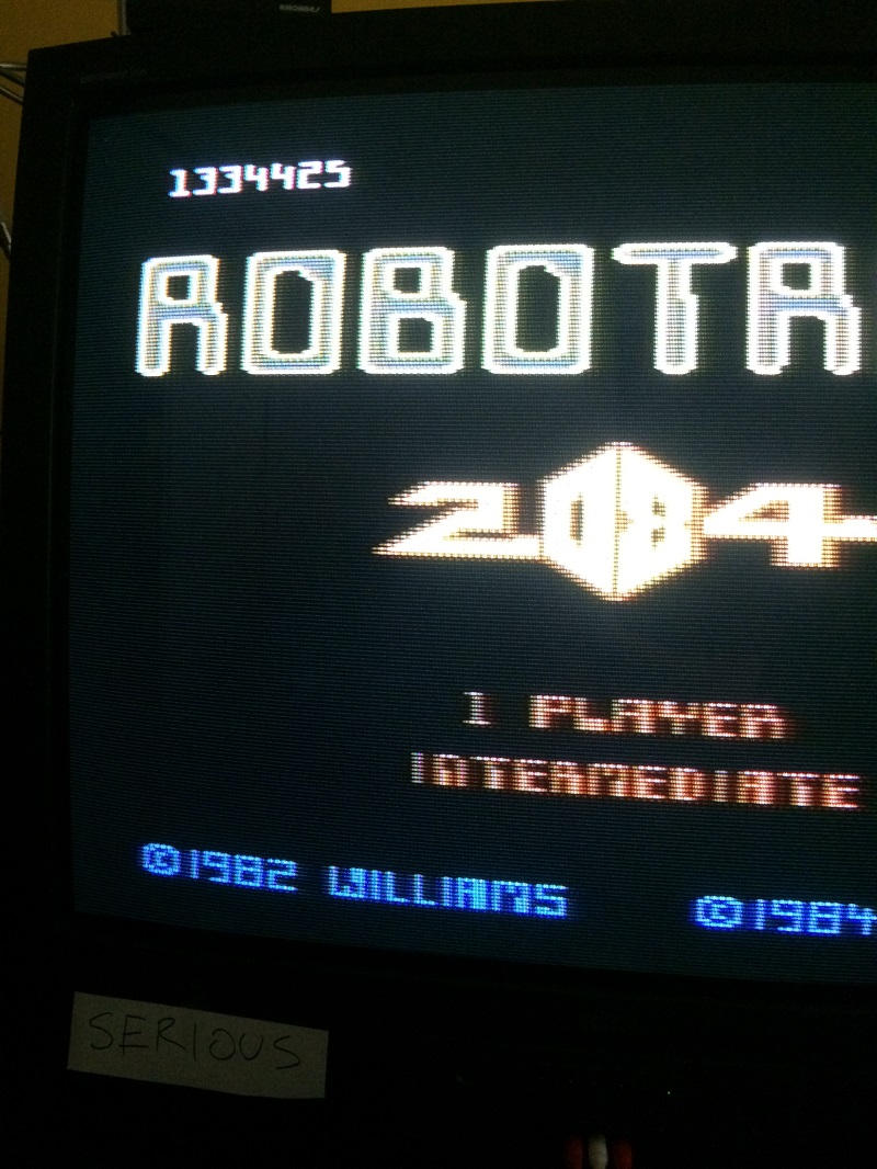 Robotron 2084: Intermediate 1,334,425 points