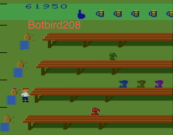 Botbird208: Tapper (Atari 2600 Emulated Novice/B Mode) 61,950 points on 2014-03-23 13:22:33