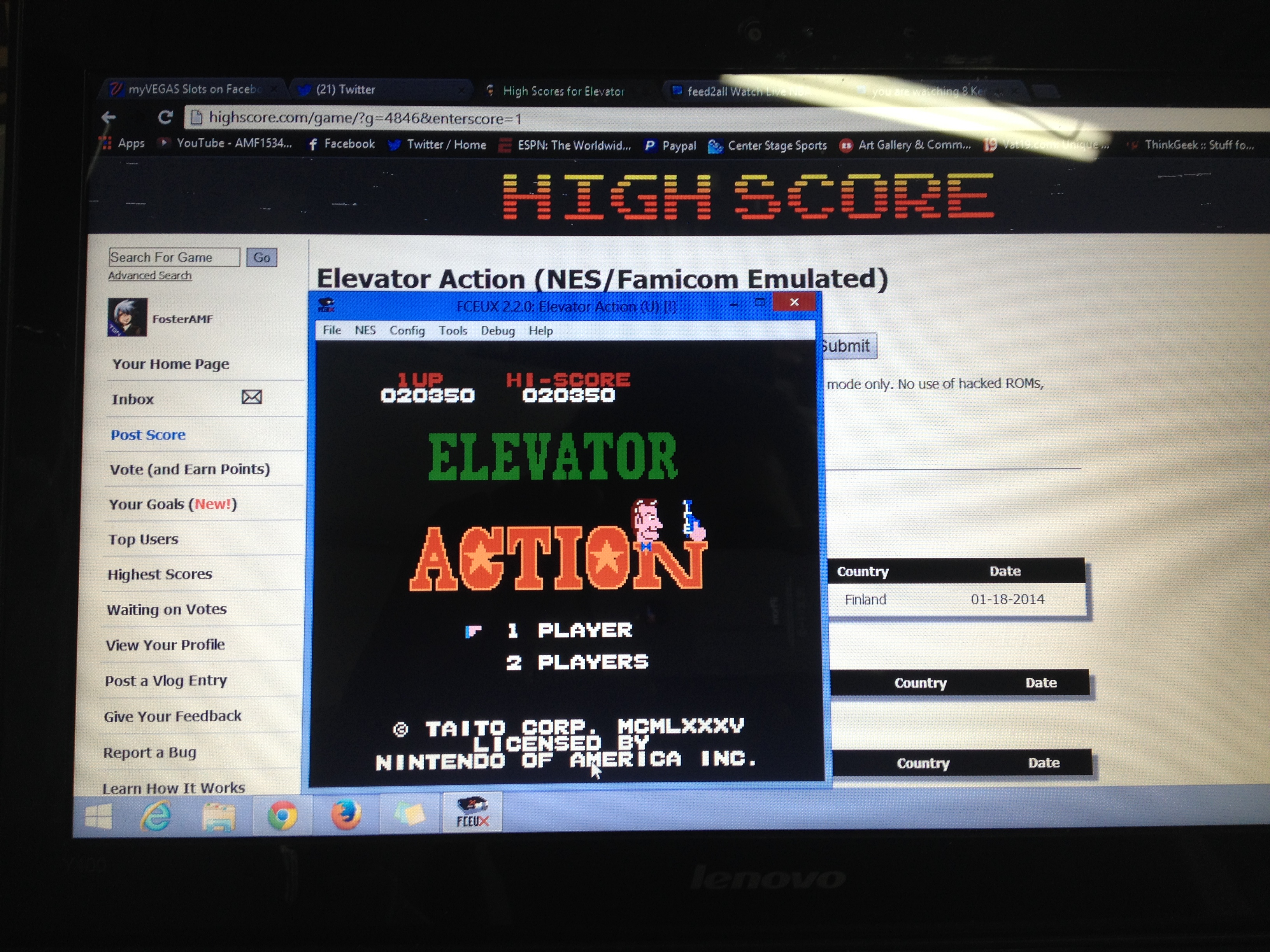 Elevator Action 20,350 points