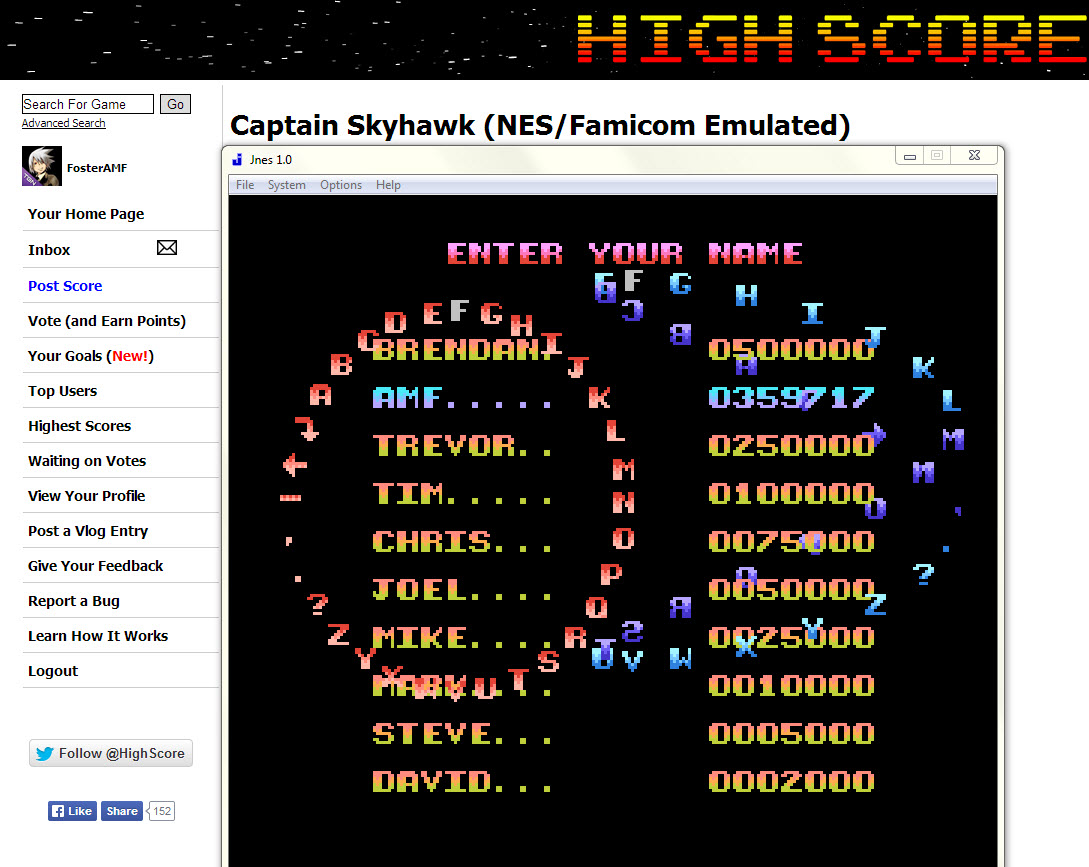 Captain Skyhawk 359,717 points