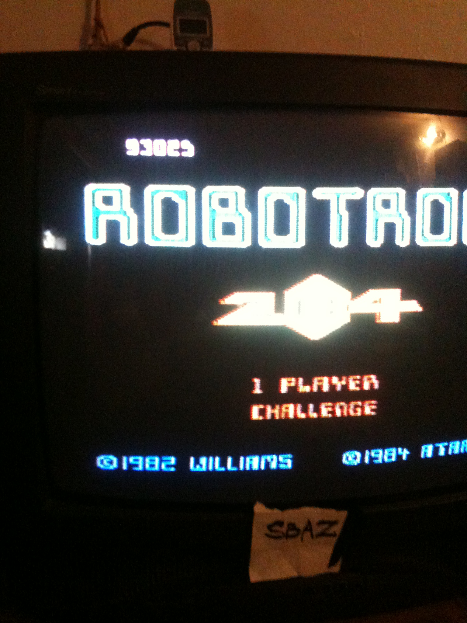 Robotron 2084: Challenge 93,025 points