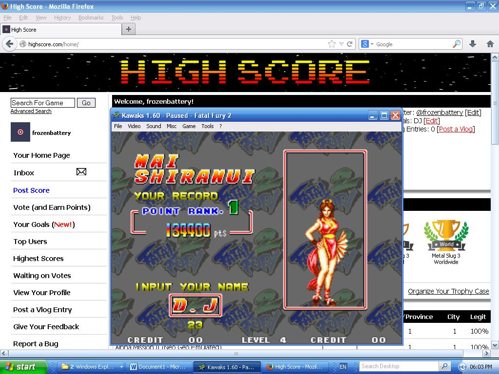 Fatal Fury 2 134,400 points