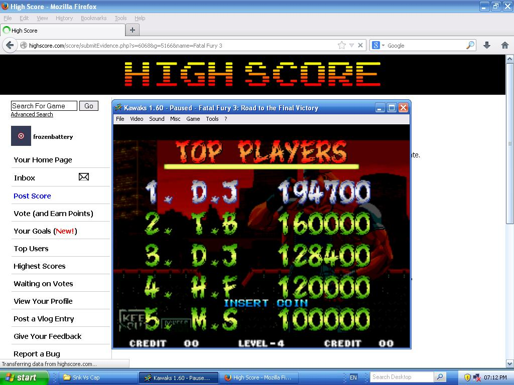 Fatal Fury 3 194,700 points