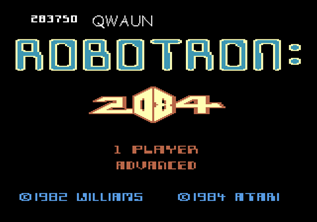Robotron 2084: Advanced 283,750 points