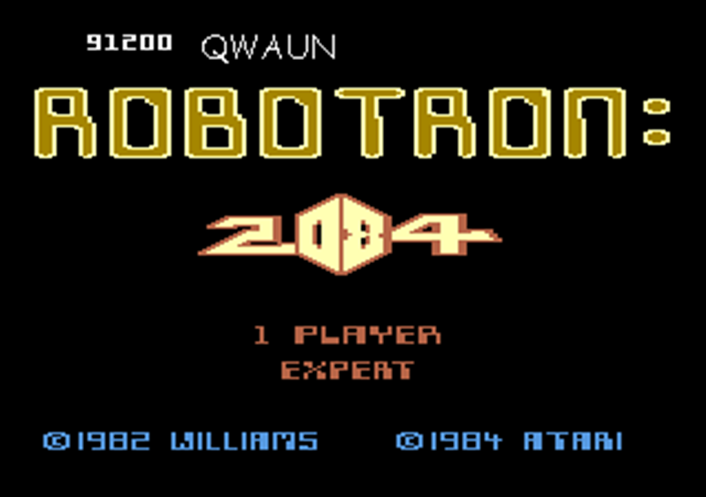 Robotron 2084: Expert 91,200 points