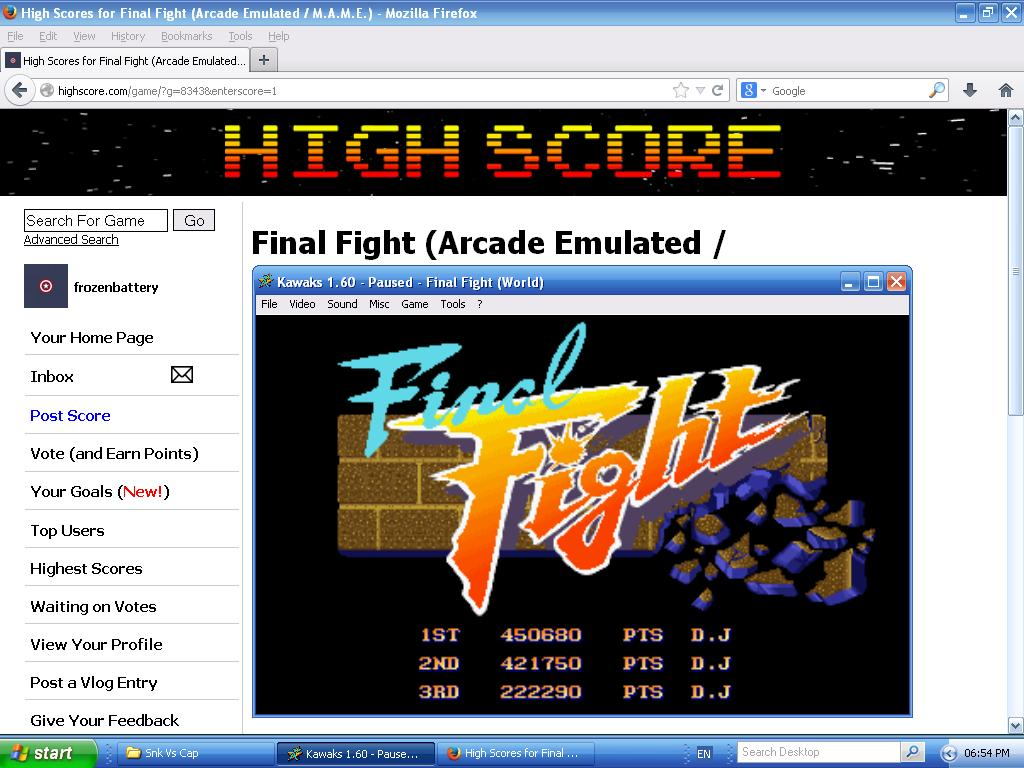 Final Fight 450,680 points