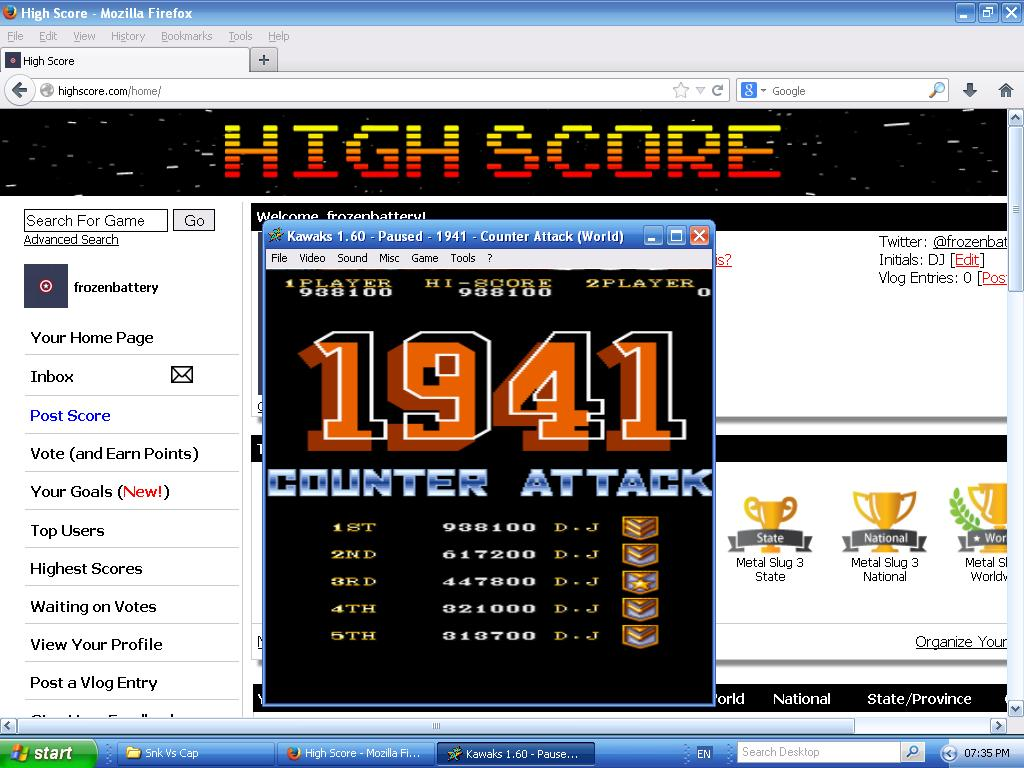 1941: Counter Attack 938,100 points