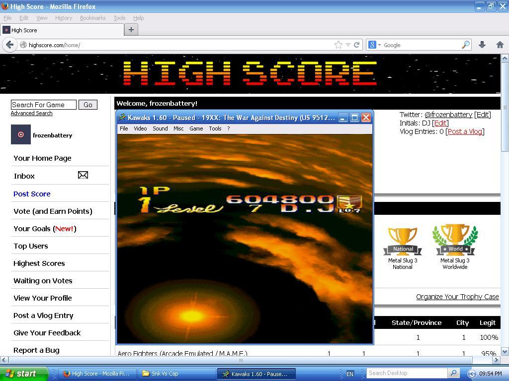19XX War Against Destiny 604,800 points
