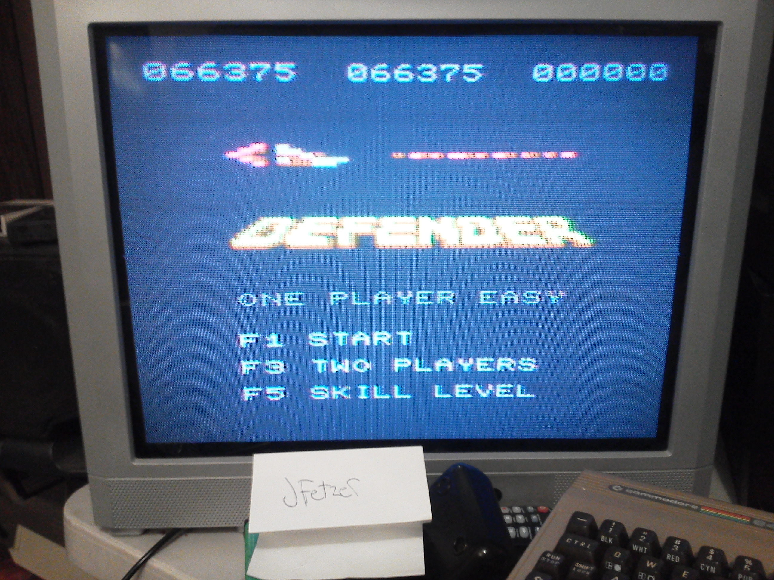 jfetzer: Defender (Commodore VIC-20) 66,375 points on 2014-03-29 20:53:41