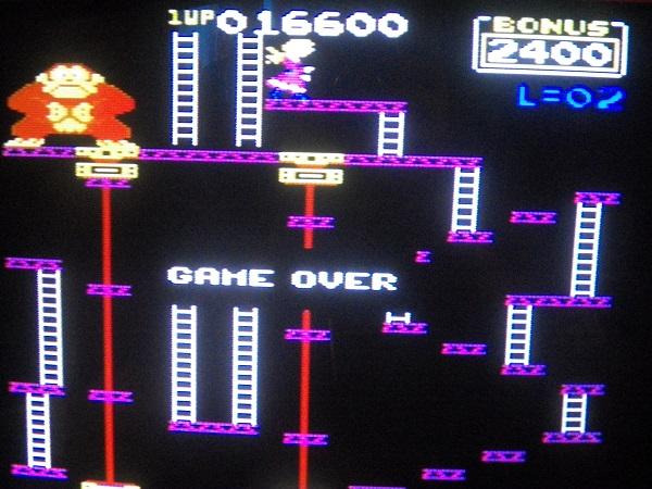 Donkey Kong: Atarisoft 16,600 points