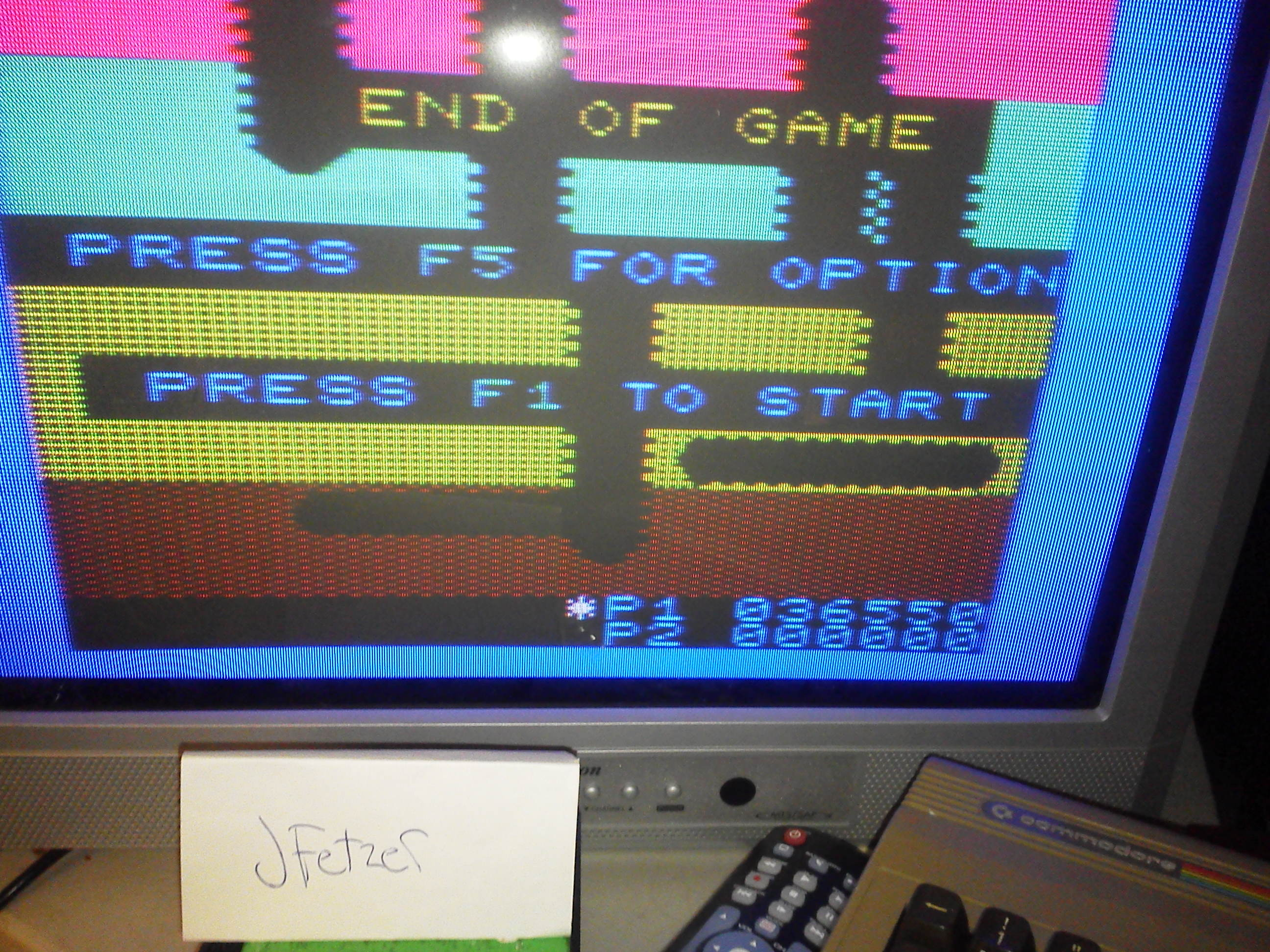 jfetzer: Dig Dug (Commodore VIC-20) 36,550 points on 2014-03-29 22:25:19