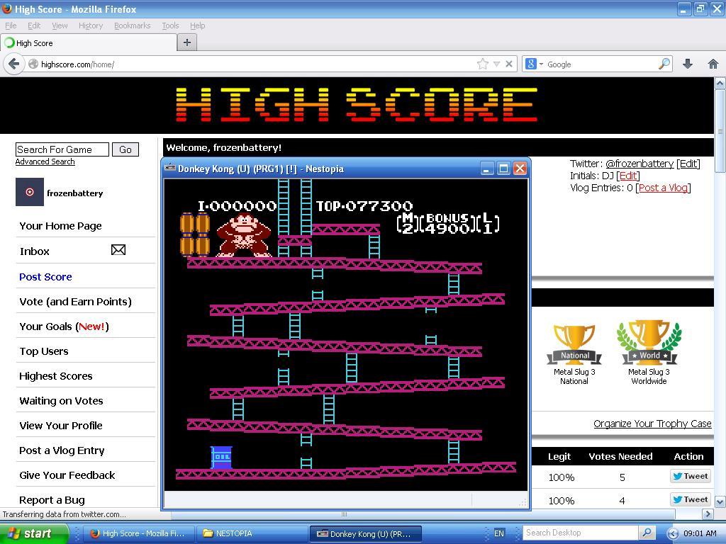 Donkey Kong 77,300 points