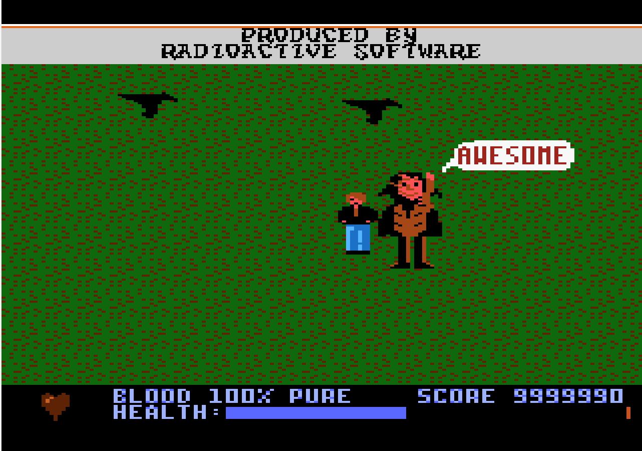 Liduario: Midnight Mutants (Atari 7800 Emulated) 9,999,990 points on 2014-03-30 16:43:12