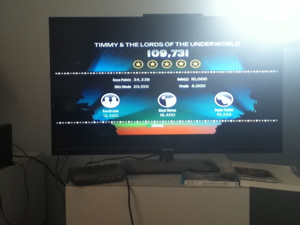 Rock Band Blitz: Timmy and the Lords of the Underworld 109,731 points