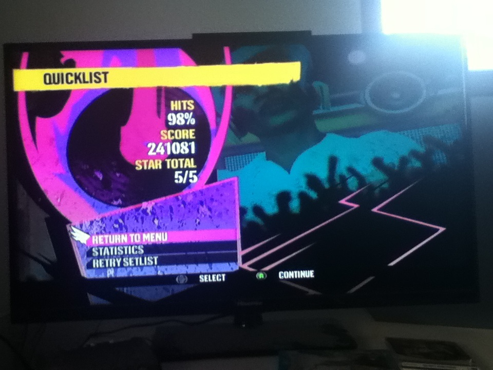 DJ Hero: Here Comes My DJ vs. Cars [Expert] 241,081 points