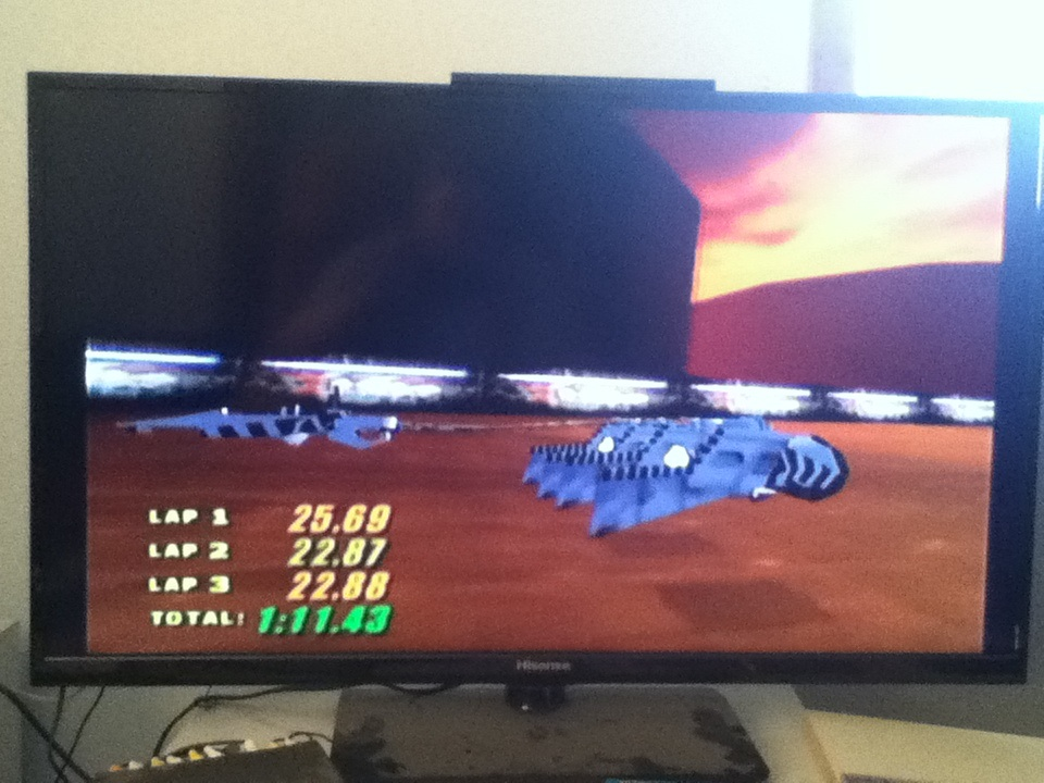 Star Wars Episode I Racer: Mon Gazza Speedway time of 0:01:11.43