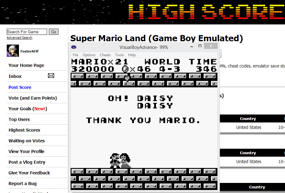 Super Mario Land 320,000 points