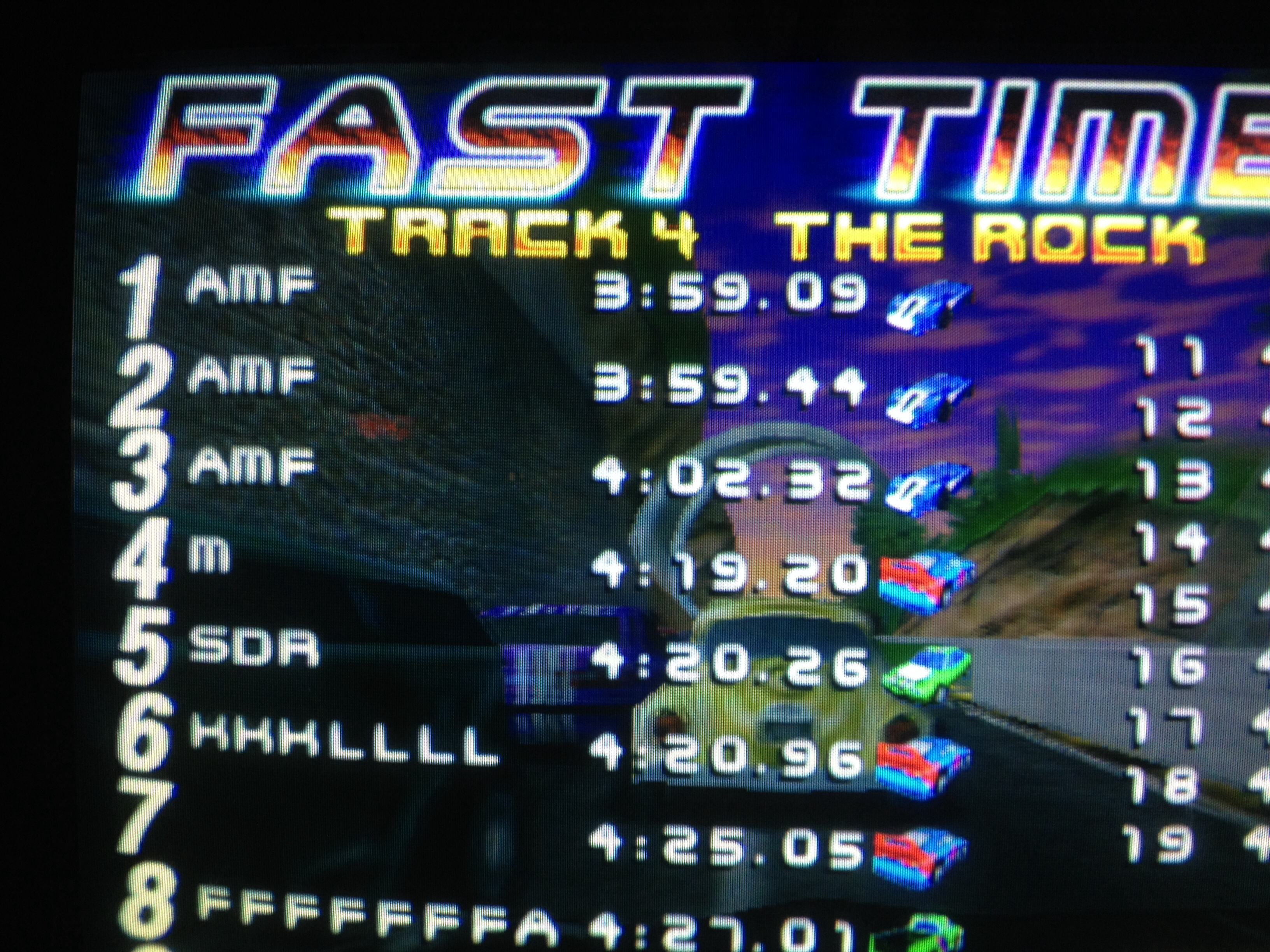 San Francisco Rush: The Rock [Track 4] time of 0:03:59.09