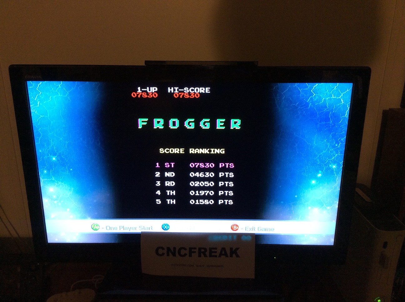 Frogger 7,830 points