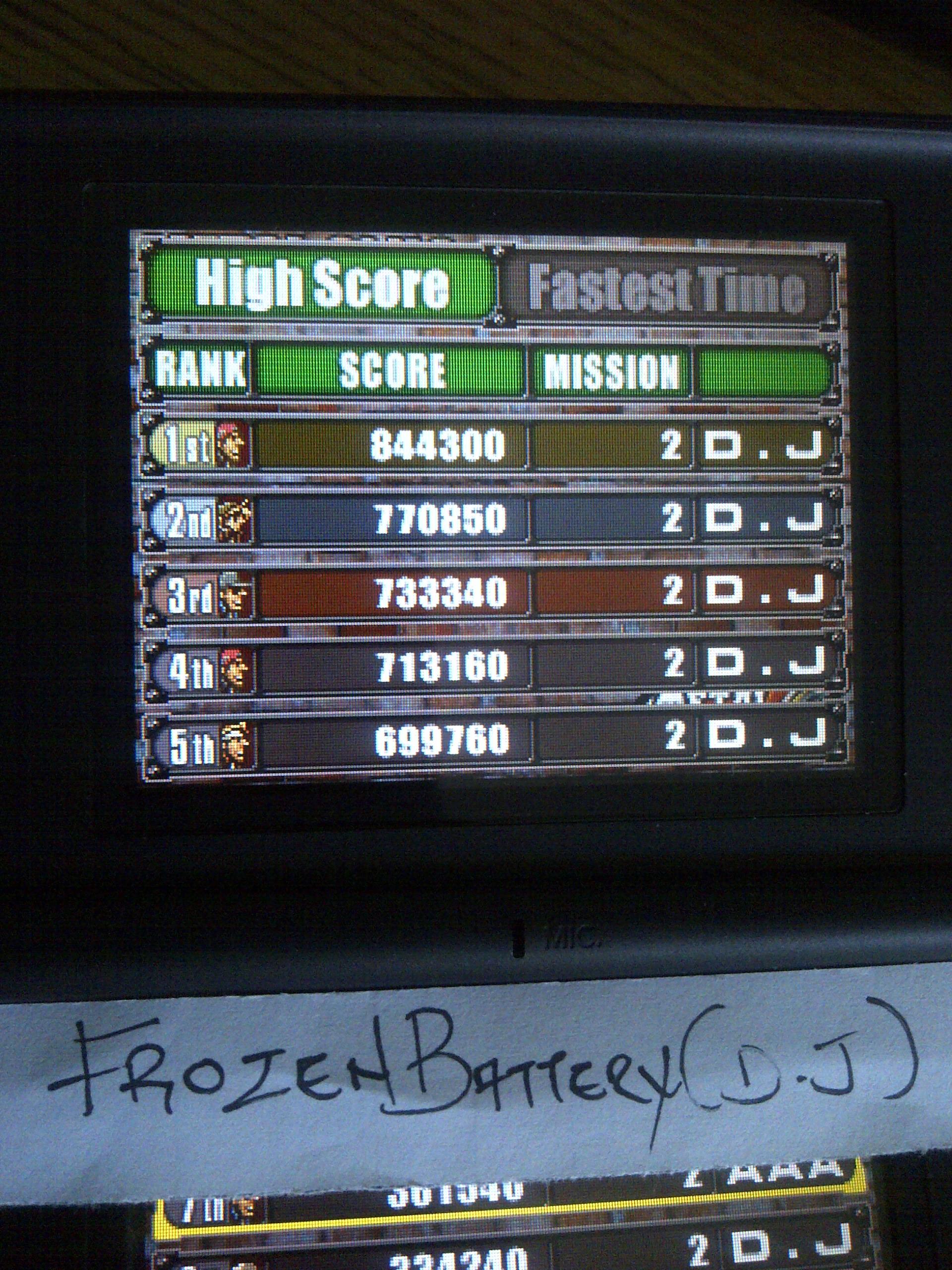 Metal Slug 7 844,300 points