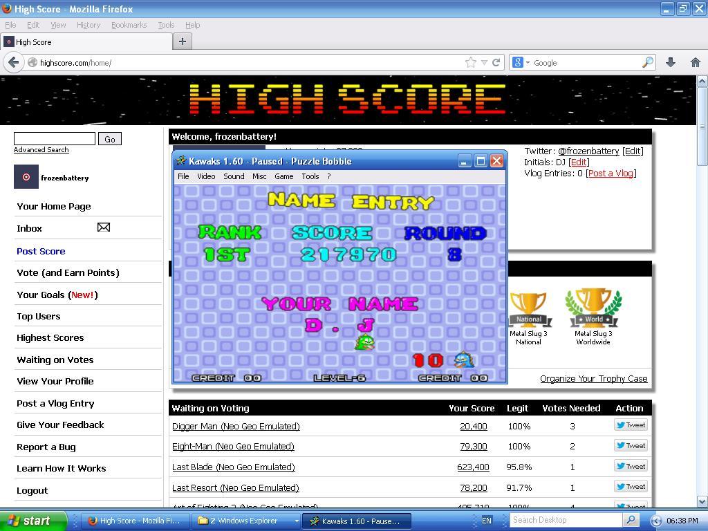 Bust A Move / Puzzle Bobble 217,970 points