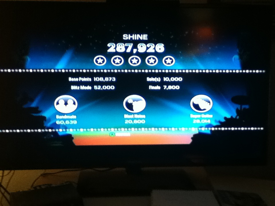 BeemoSlapsCyrax: Rock Band Blitz: Shine by Collective Soul (Xbox 360) 287,926 points on 2014-04-02 22:15:26