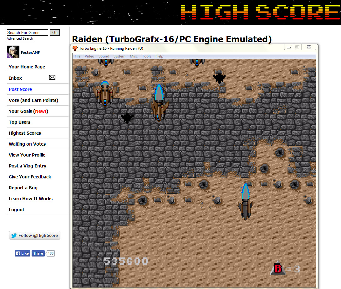 FosterAMF: Raiden (TurboGrafx-16/PC Engine Emulated) 535,600 points on 2014-04-03 15:32:32