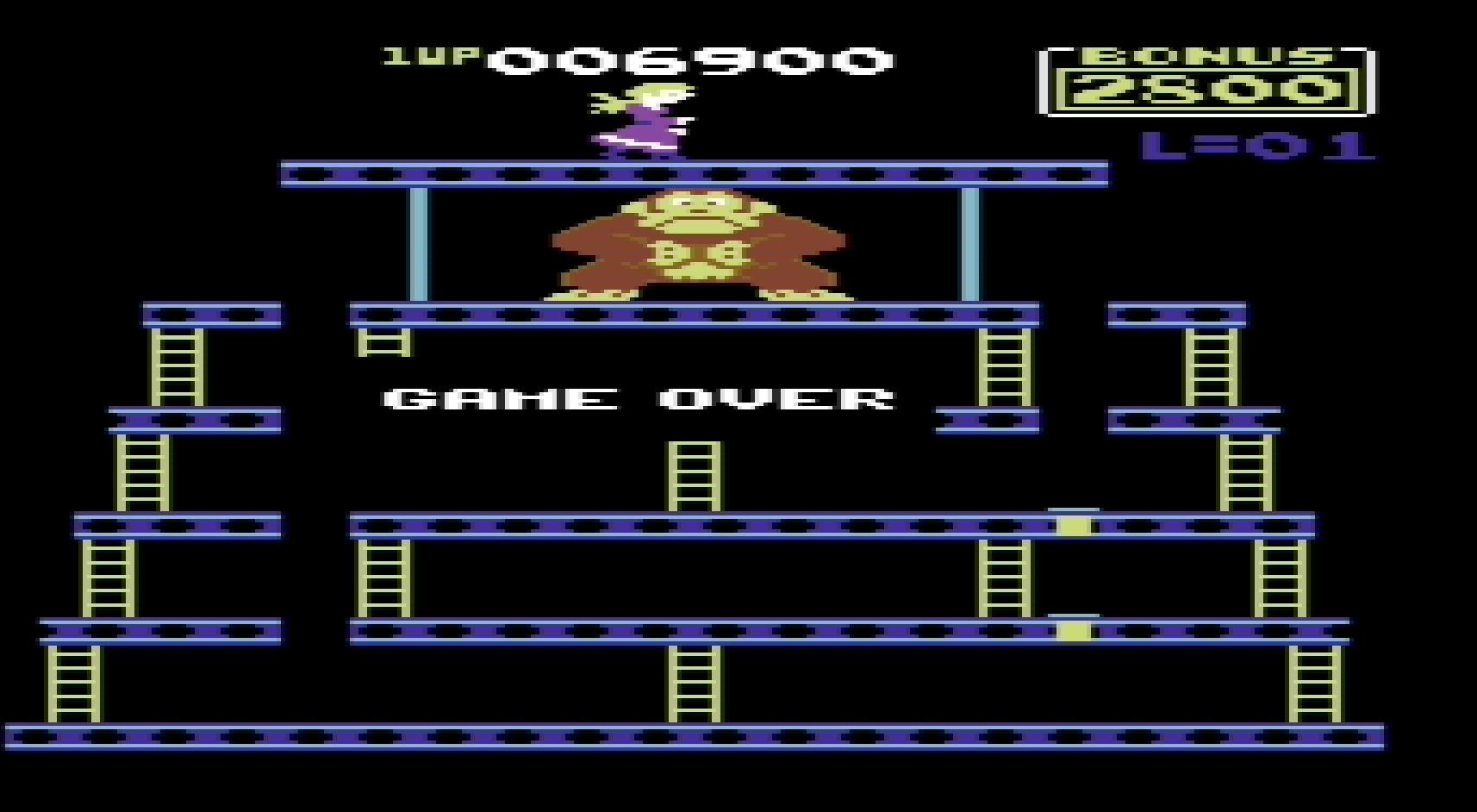 Donkey Kong: Atarisoft 6,900 points