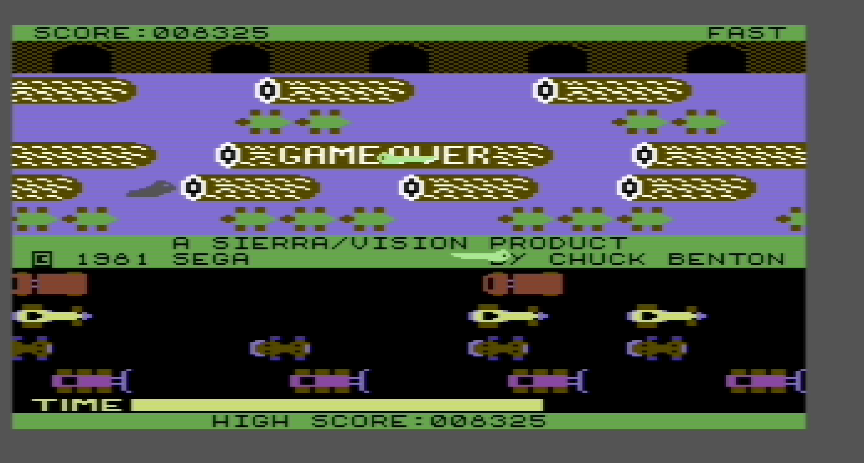 Frogger: Sierra 8,325 points