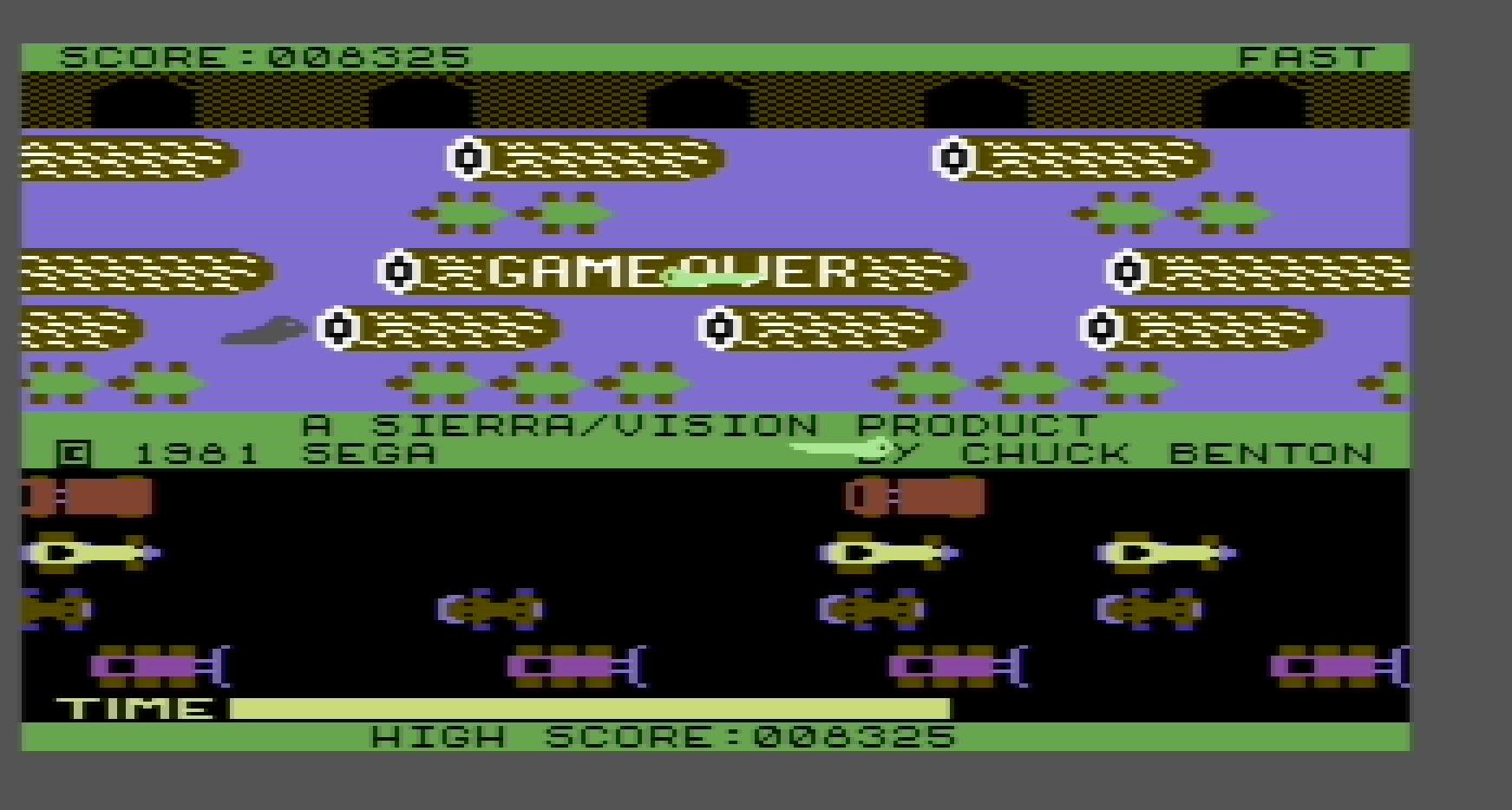 Frogger: Sierra 8,325 points