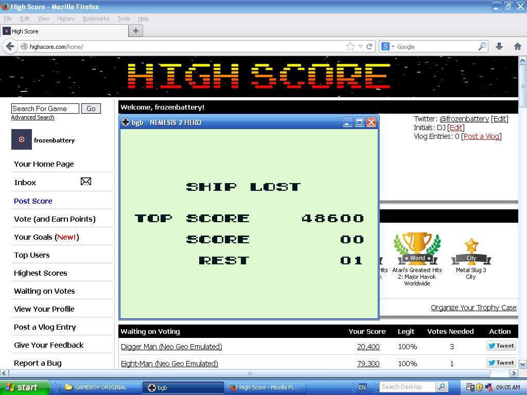 Nemesis 2 48,600 points