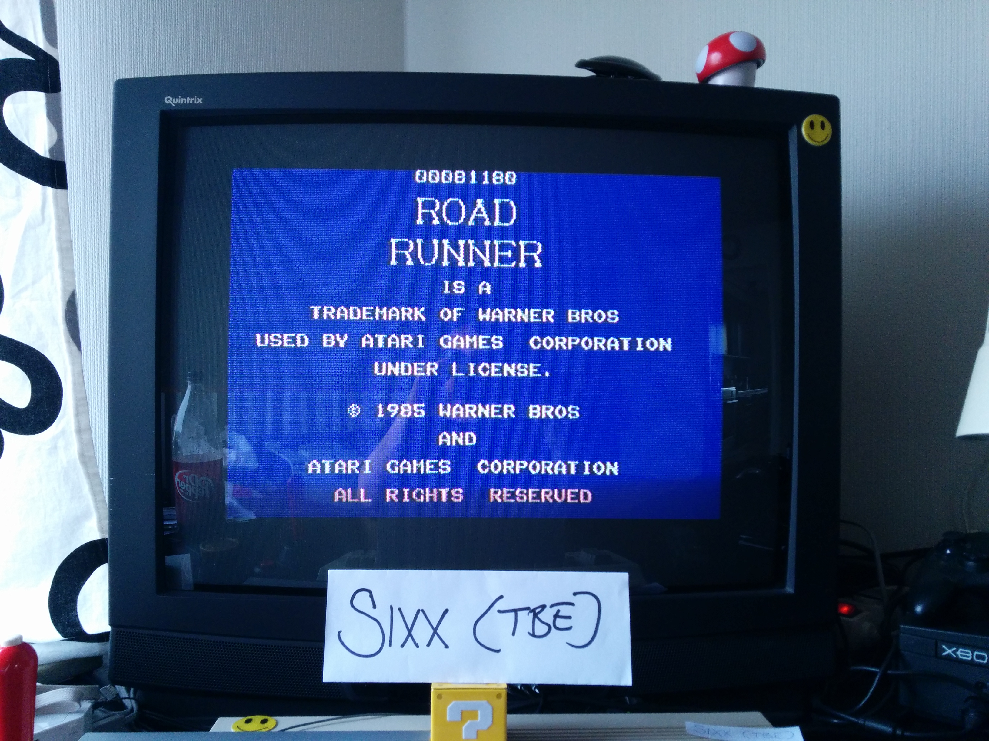 Sixx: Road Runner (Commodore 64) 81,180 points on 2014-04-05 05:11:15