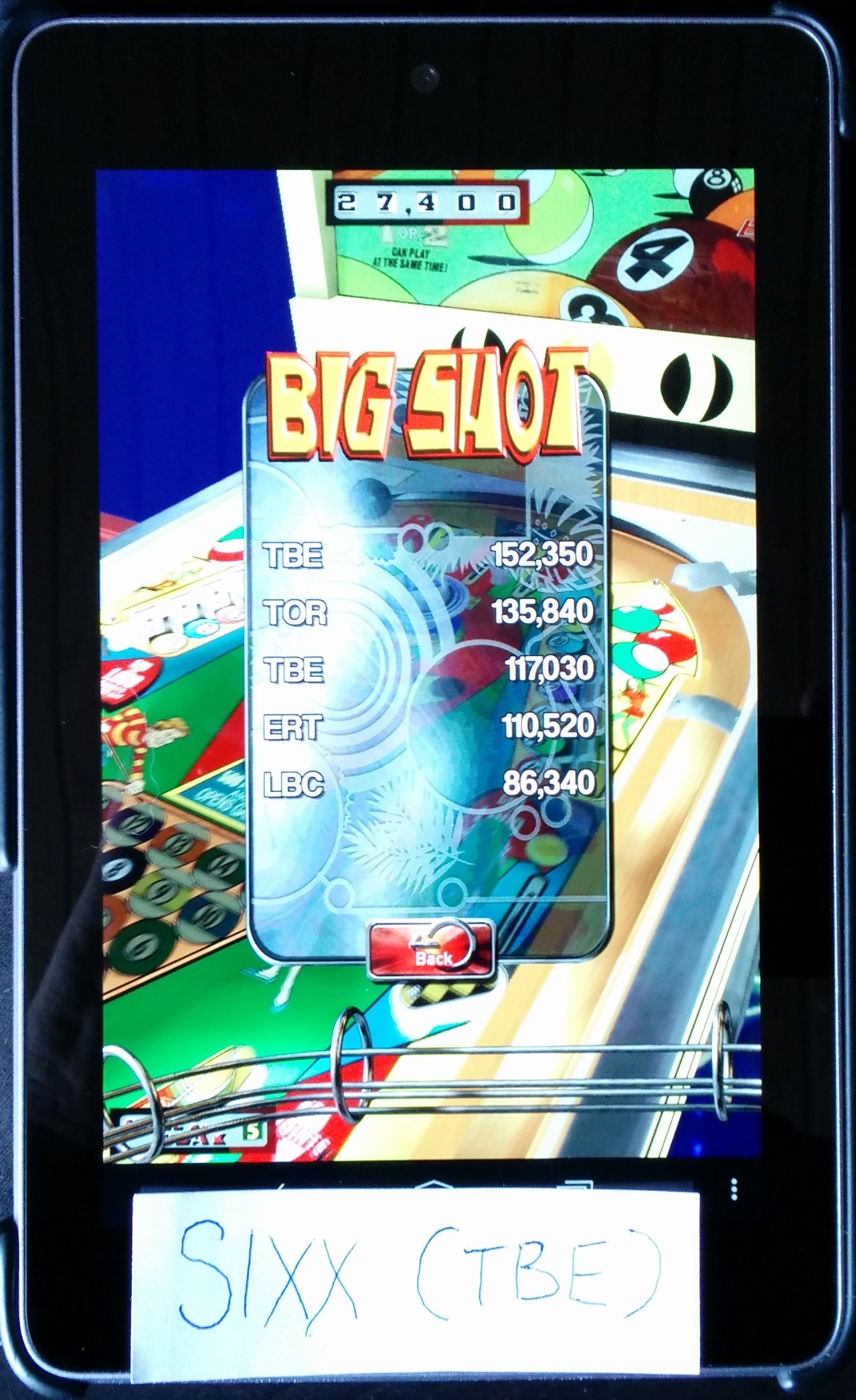 Pinball Arcade: Big Shot 152,350 points