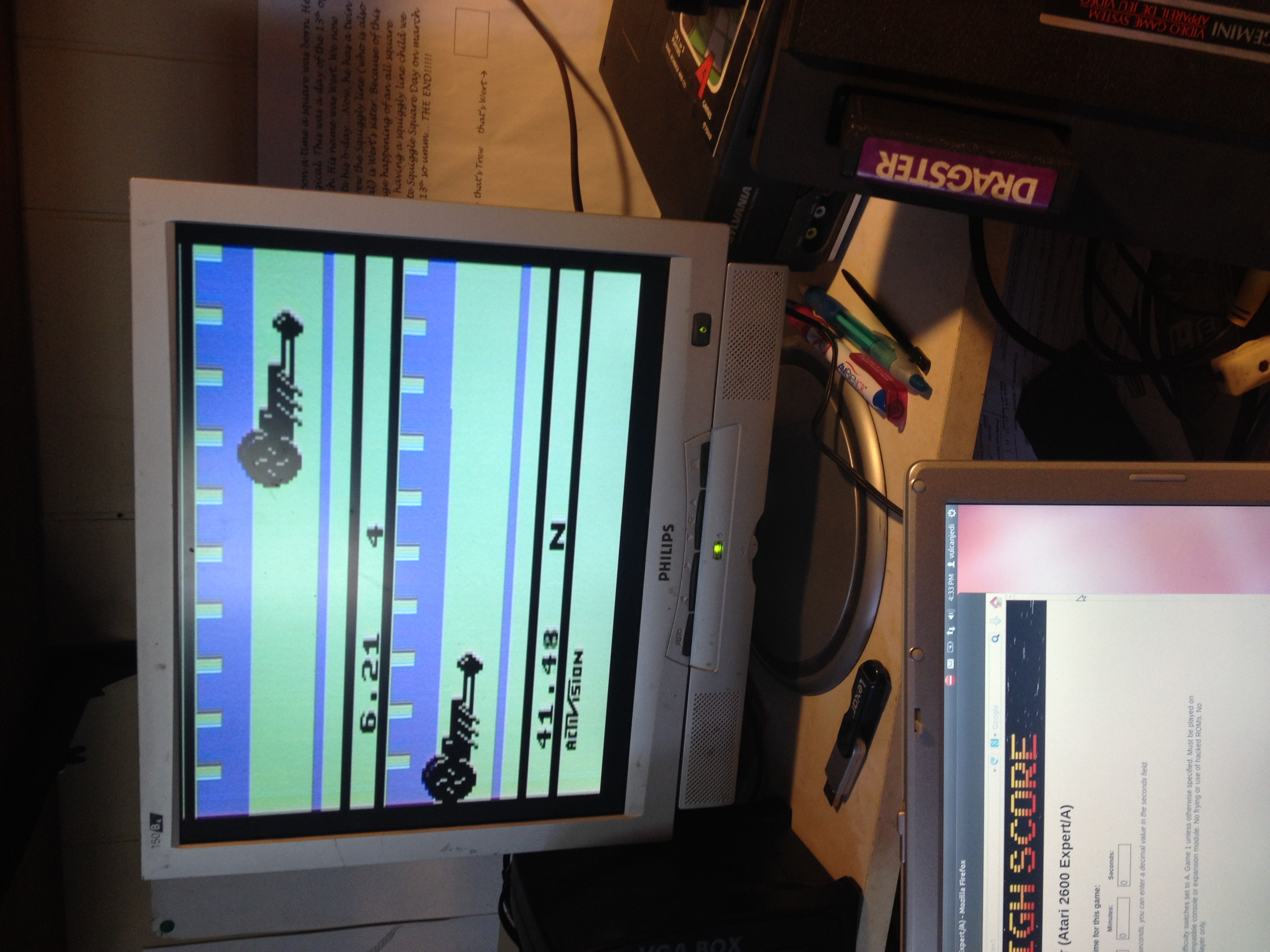 vulcanjedi: Dragster (Atari 2600 Expert/A) 0:00:06.21 points on 2014-04-05 15:40:36