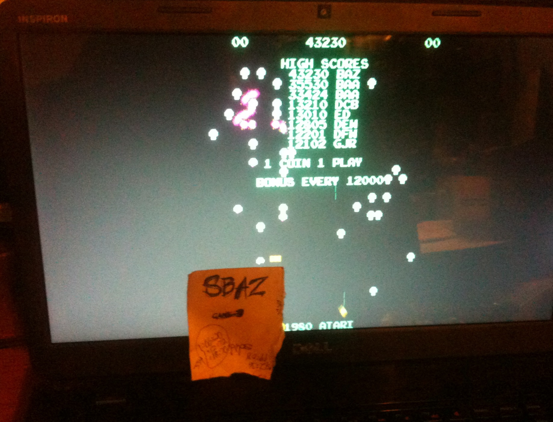 Centipede 43,230 points