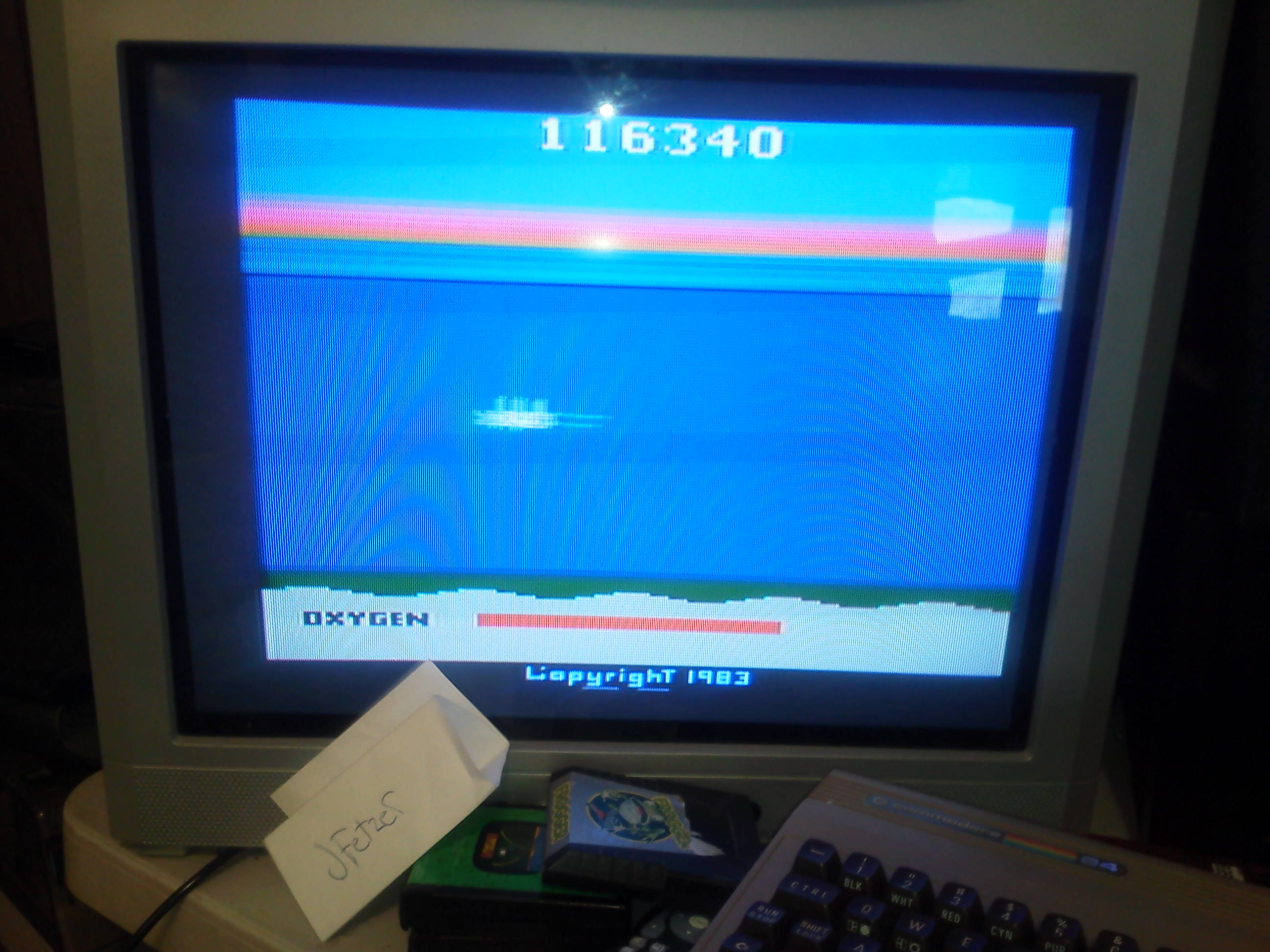 jfetzer: Seaquest (Atari 2600 Novice/B) 116,340 points on 2014-04-07 09:45:20