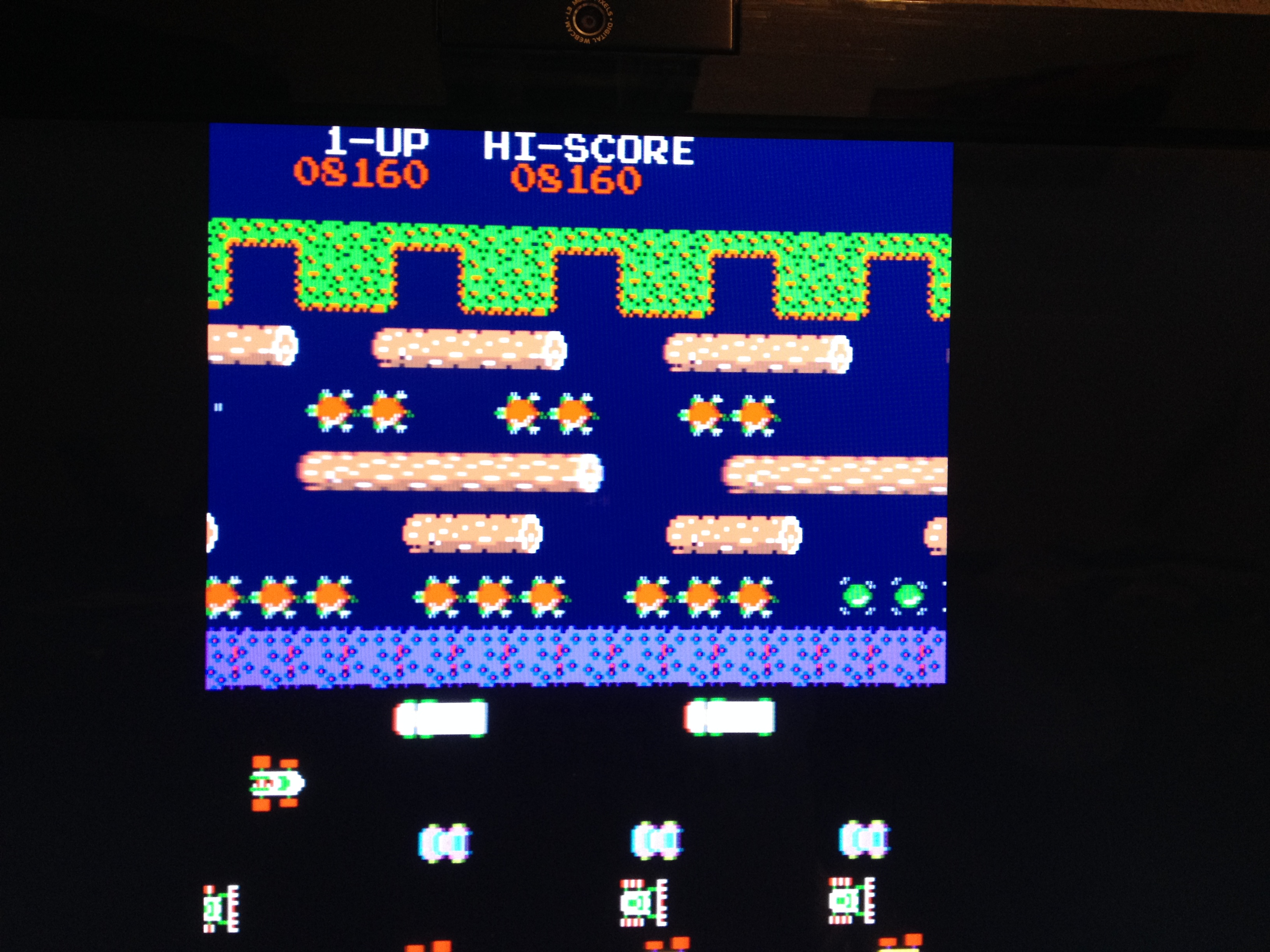 Frogger 8,160 points