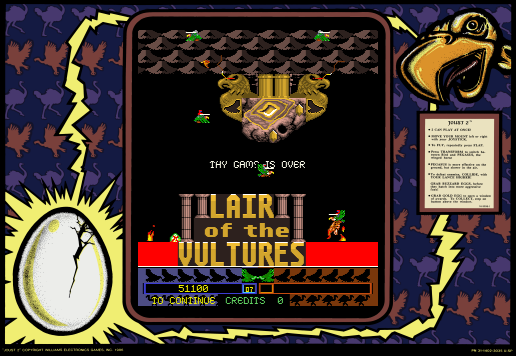 arenafoot: Joust 2 (Arcade Emulated / M.A.M.E.) 51,100 points on 2014-04-08 15:49:51